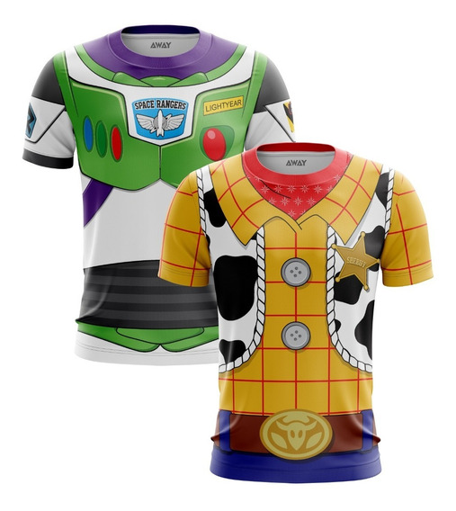 Combo Camisa Uniforme Traje Buzz Lightyear + Woody Toy Store