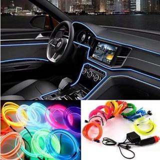 Hilo Tira Luz Neon Colores Led Conector 12v Auto Moto 5m/069