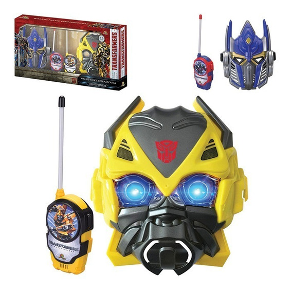 Walkie Talkie Brinquedo Com Mascaras Do Transformers