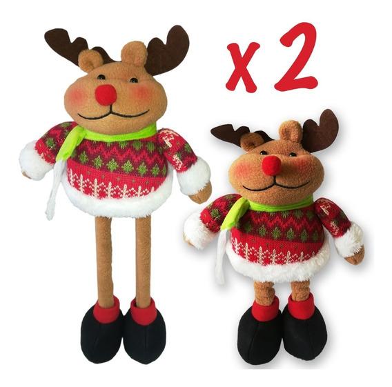 Muñecos Navidad Renos Patas Largas X2 50