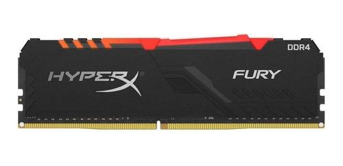 Imagen 1 de 3 de Memoria RAM Fury DDR4 RGB gamer color Negro  8GB 1 HyperX HX432C16FB3A/8