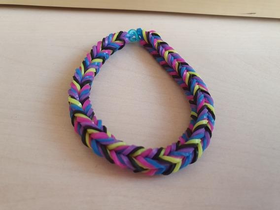 Pulseira Elastico 19 - Rainbow Loom 7 Unidades Coloridas