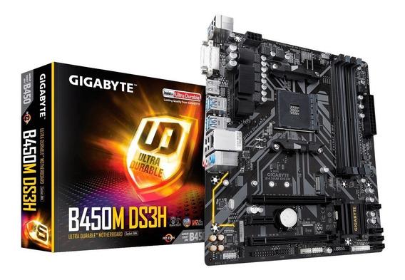 Motherboard Gigabyte Amd Ga-b450m Ds3h Am4 Ryzen Ddr4 B450 2