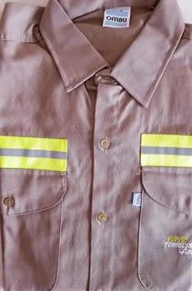 Camisa Ombu Trabajo Ferrocarril Talle 40 Reflectiva Caqui