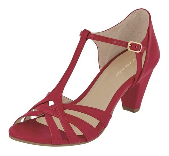 Zapatillas Rojo P/dama Cklass 060-14 7cm Uy4