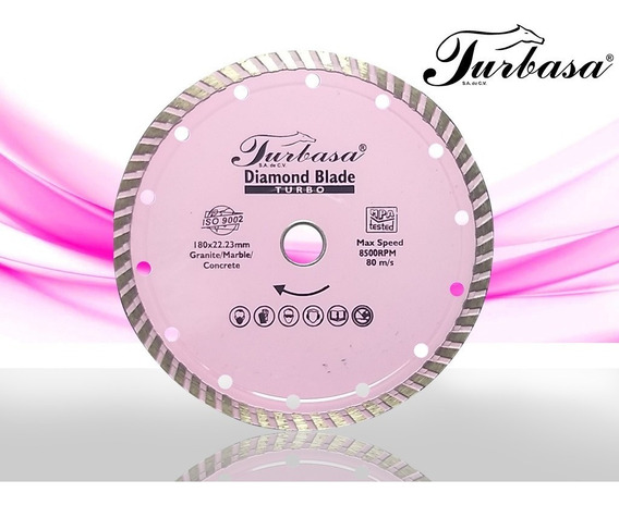 Disco De Diamante Turbo 7 Turbasa Paq Con 5 Pzas