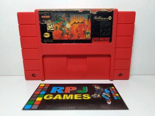 Doom Original P/ Snes Super Nintendo - Loja Centro Rj - &&