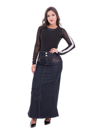 Saia Longa Jeans Modelos Variados