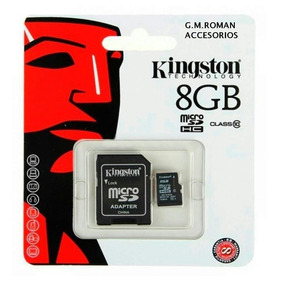Memoria Micro Sd 8gb Kingston Con Adaptador Original