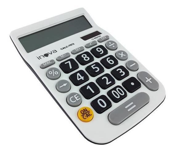 Calculadora Loja Escritório 12 Dígitos Eletrônica Display