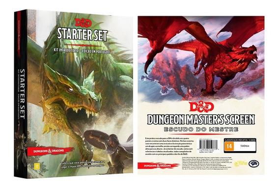Dungeon Dragons Escudo Mestre E Starter Kit Portugues Rpg