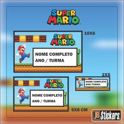 Adesivos Escolares Personalizados Super Mario