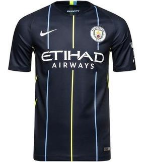 Camisa Manchester City Azul Preto Original 2019 Oficial Prom