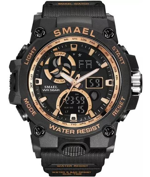 Relógio Masculino Smael Esportivo Militar Á Prova D