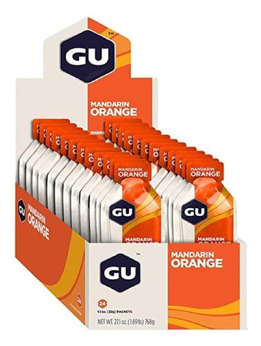Gu Energy Gel Carboidrato Laranja Caixa Com 24 Sachês