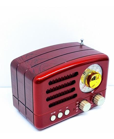 Bocina Bluetooth Bc154 Am/fm Usb,aux,tf Vintage Antiguo
