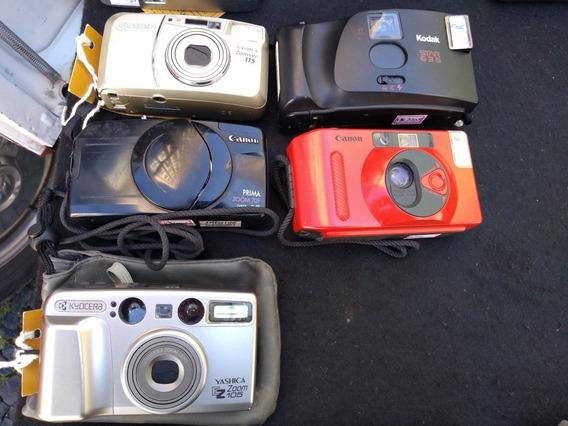 Lote De 5 Câmeras Compactas: Yashica, Kodak, Canon, Kyocera