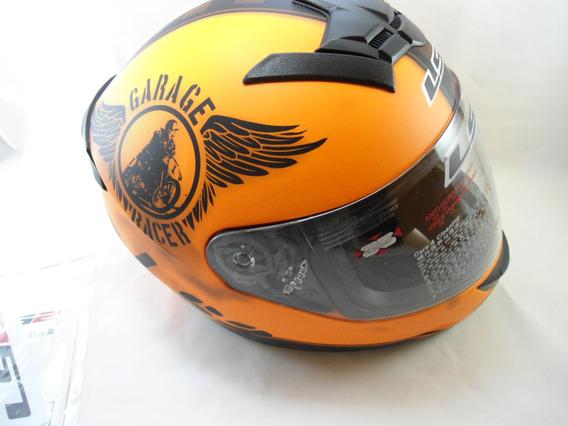 Capacete Original Ls2 Tamanho Xxl Modelo Garage Racer Ff352