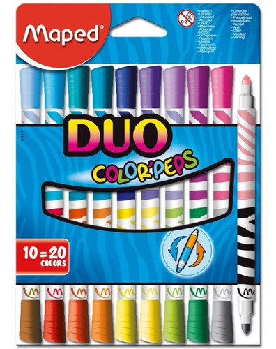 Fibras Maped Duo Color Peps 10=20