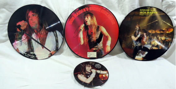 Iron Maiden Lps Vinil Interview Picture Discs Collection