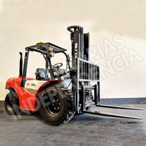 Autoelevador Todo Terreno Heli 3000 Kg Diesel Isuzu Cpcd30