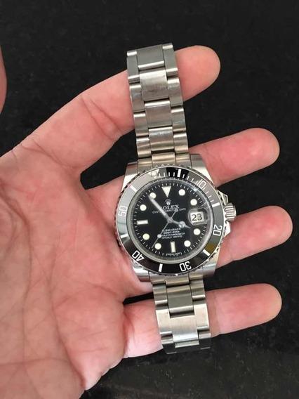 Rolex Submariner Date Preto Safira Aço