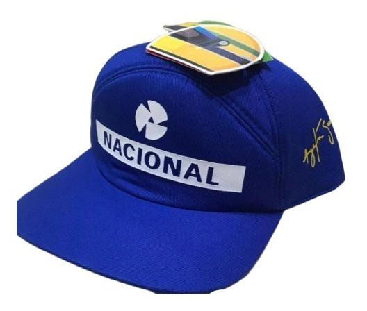 Boné Original Ayrton Senna Banco Nacional Estampado Oficial