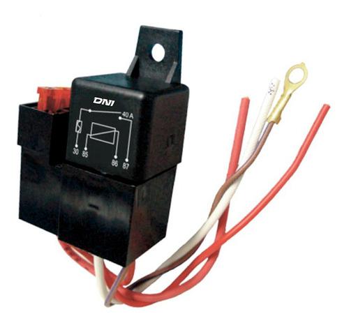 Relay Mini . Fusible/c-s/40a 4 Terminales. 24v
