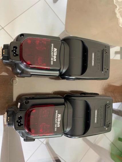 2 Flashes Nikon Sb 900 (2 Unidades) Melhor Preço Do Ml