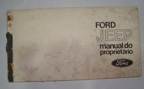 Manual Jeep Ford 1975 Original - Usado