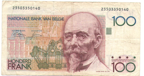 Belgica 100 Belgas Cent Francs