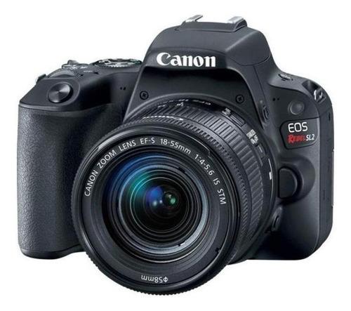 Imagem 1 de 2 de Canon EOS Rebel Kit T7 + lente 18-55mm IS II DSLR cor  preto