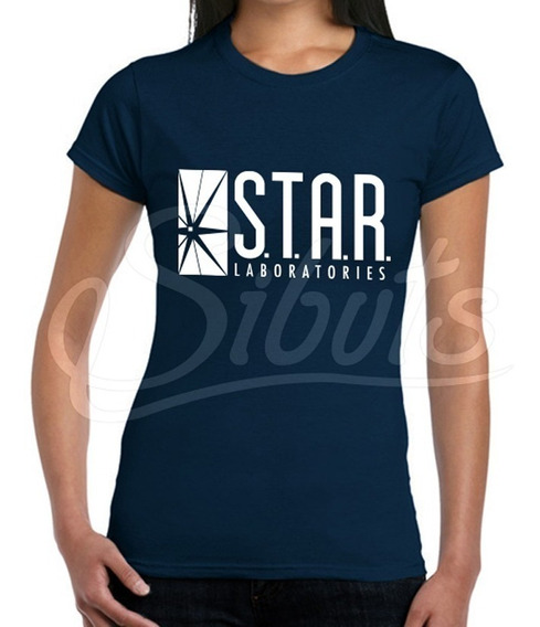 Playera Azul Marino Mujer Star Lab Flash Laboratories