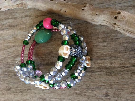 Pulseira Colorida #feminina #pedras Naturais #presente