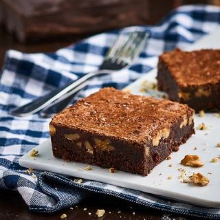 Cuadrado De Brownie De Chocolate Belga Y Nuez X 4