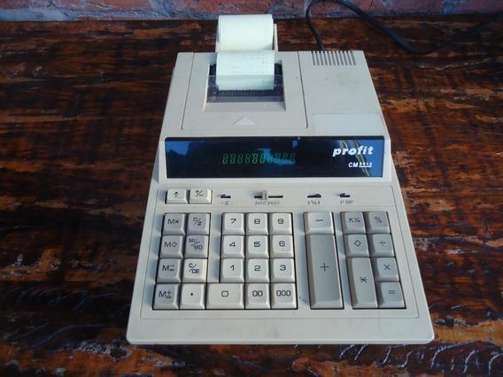 Antiga Calculadora Profit Cm-3412 Bobina Funcionando 110/220