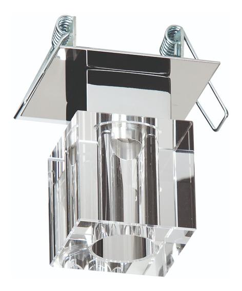 Spot Embutir Cristal Cubo - Kit C/ 3 Peças