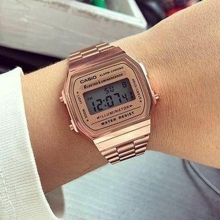 Relógio Original Luxo Unissex Rose Feminino Aço - Promoção