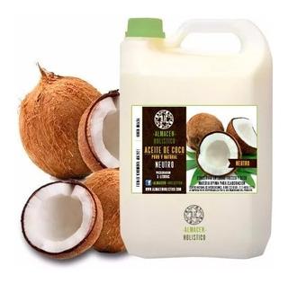 Aceite De Coco Natural Prensado En Frio Puro 5 Lt Litros