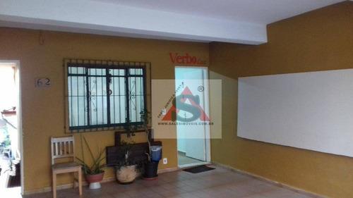 Sobrado Com 2 Dormitórios À Venda, 306 M² Por R$ 680.000,00 - Vila Santo Estéfano - São Paulo/sp - So4161
