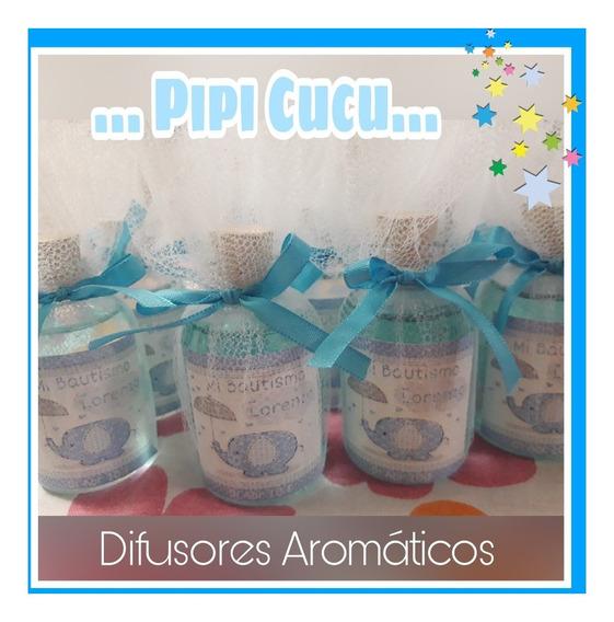 10 Difusores Aromaticos 100cc Con Tul Personalizados
