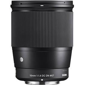 Lente Sigma 16mm F/1.4 Dc Dn Contemporânea Para Sony E-mount