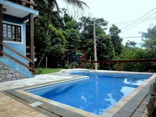 Imagem 1 de 22 de Ref: 5423 - Casa Maravilhosa Em Condomínio, Com Vista Pro Mar (alto Padrão) - Praia Toque Toque Pequeno, Piscina, Sacadas, 5 Suítes. - 5423