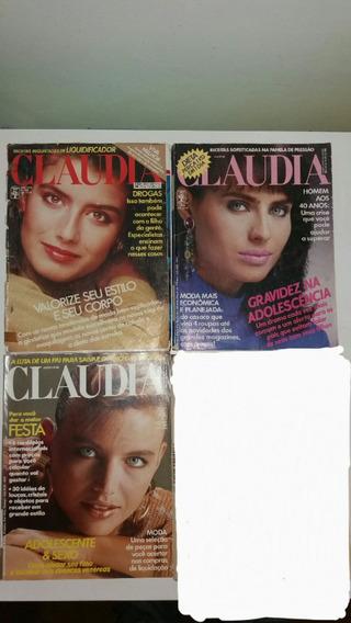 Revista Claudia De 1986 Lote 3 Revista Anos 80