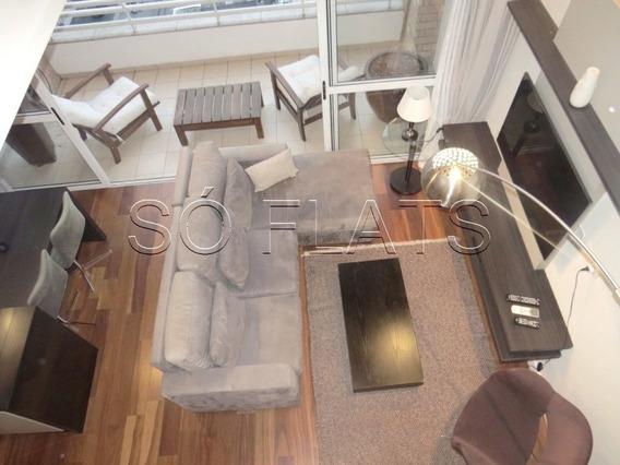 Flat Com 02 Dorms No Brooklin, Prox A Marg Pinheiros E Av. Luiz C. Berrini - Sf30341