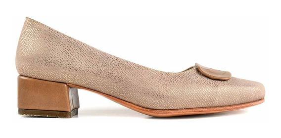 Zapato Cuero Briganti Mujer Vestir Taco - Mccz03468 Hp