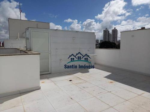 Cobertura Com 2 Dormitórios, 100 M² - Venda Por R$ 430.000,00 Ou Aluguel Por R$ 2.300,00/mês - Vila Scarpelli - Santo André/sp - Co0625