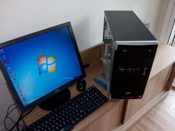 Computador Completo Sti Toshiba 2gb De Memoria Hd 80gb