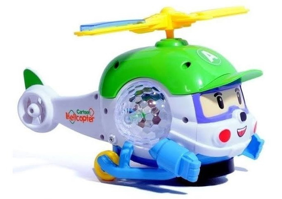 Brinquedo Helicóptero Infantil Bate Volta Som E Luzes