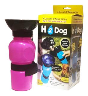 Bebedor Portátil Para Passeio Rosa H2 Dog